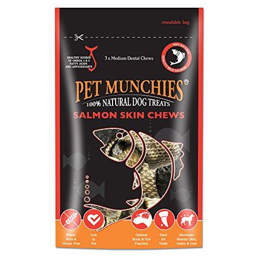 Pet Munchies Łososis Kau przekąski dla psów (8 x 90 g) (może się różnić)
