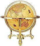 BD.Y Globo, Globo del Mundo Vintage Globo Interactivo para niños Mapa del Mundo Iluminado con Soporte Alto de Metal con brújula Regalo Educativo Niños Familia