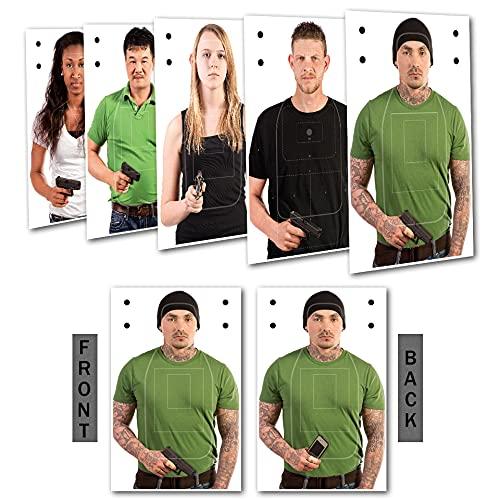 Challenge Targets Shoot/No Shoot Target Assortment - 25PK