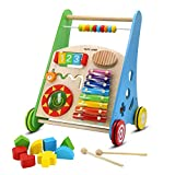 PUPY JUMP Wooden Push and Pull Learning Walker for Boys and Girls