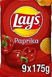 Lay's Paprika – Knusprig gewürzte Kartoffelchips für eine gelungene Party – 9 x 175g