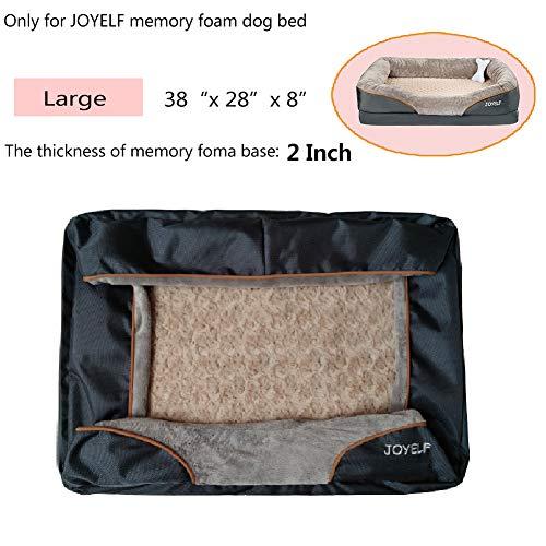 JOYELF - Funda de repuesto para cama de perro de espuma viscoelástica