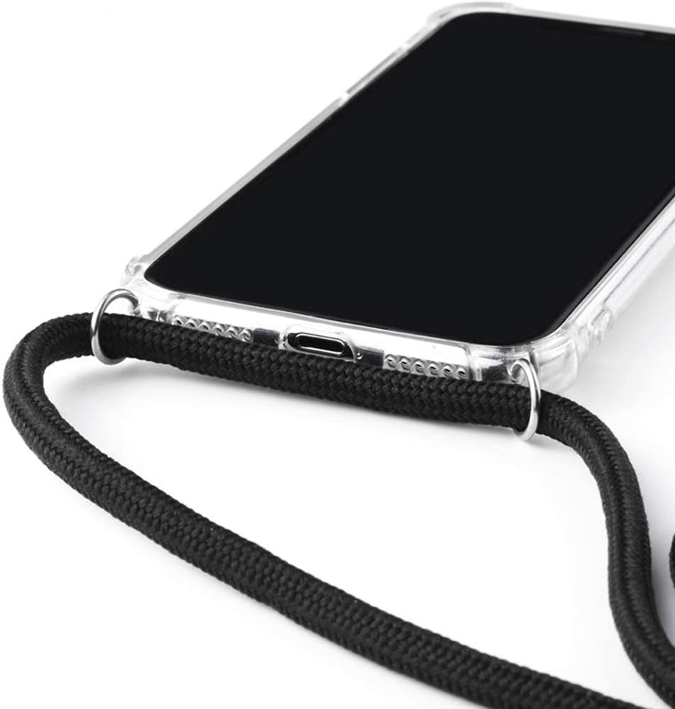 2ndSpring Coque avec Collier Compatible avec Samsung Galaxy A51 4G,Tour de Cou Lani/ère en Corde Pendentif Housse,Silicone Souple Menthe Verte