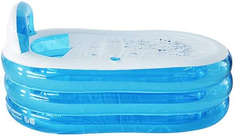 BHDYHM Breiter aufblasbarer Familien-Swimmingpool im Freien, Planschbecken-aufblasbare Badewanne nehmen EIN Bad-Begasungs-Schaumbad nehmen EIN Bad-Fass-Swimmingpool bequem und praktisch