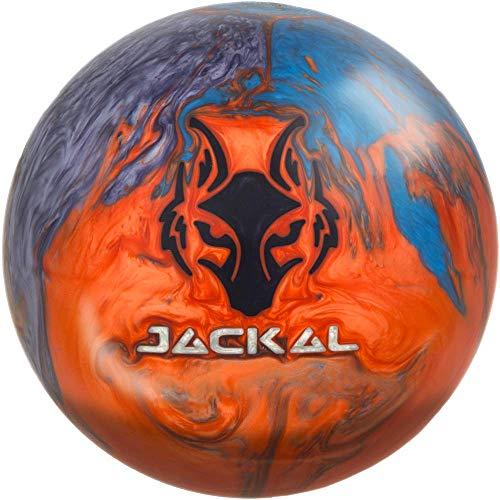 Motiv Jackal Flash Bowling Ball 15lbs, Orange/Silver/Blue