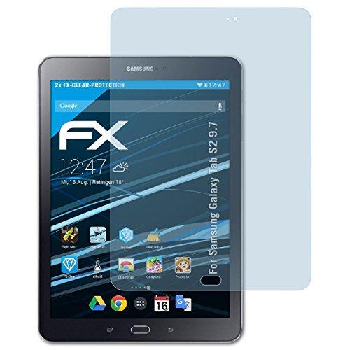 atFoliX Protezione Pellicola dello Schermo Compatibile con Samsung Galaxy Tab S2 9.7 Pellicola Protettiva, Ultra-Trasparente FX Proteggi Schermo (2X)