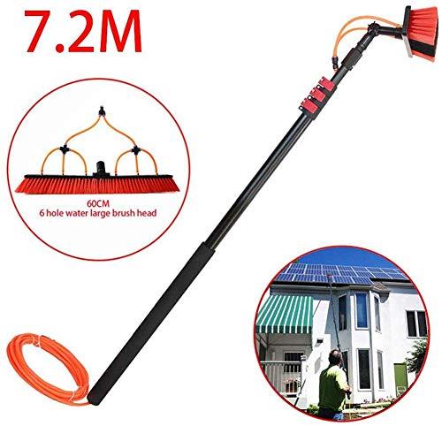 YUMO 3.6-11M Teleskop Reinigung Rod, Photovoltaik-Panel-Reinigungs-Werkzeug, Wasch Set Geräte Verlängerungsstange Reinigungsset Für LKW Fenster, Sonnenkollektoren, Fensterreinigung,7.2m