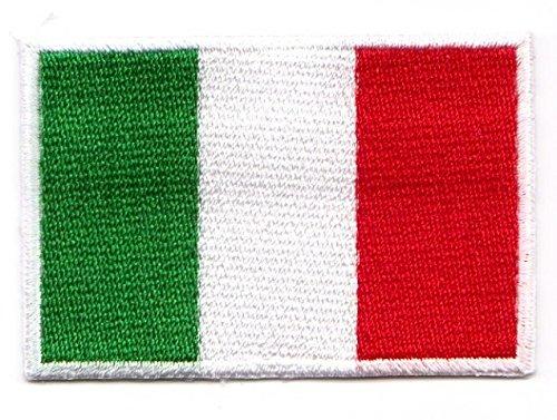 Aufnäher Bügelbild Aufbügler Iron on Patches Applikation Flagge Italien 3 x 2cm Vor20-10-S