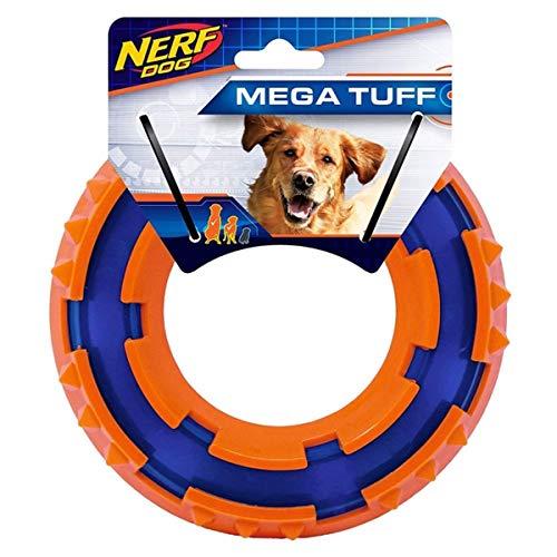 Hasbro Nerf Dog VP6682E - Anello TPR Spike, 15 cm, Blu/Arancione