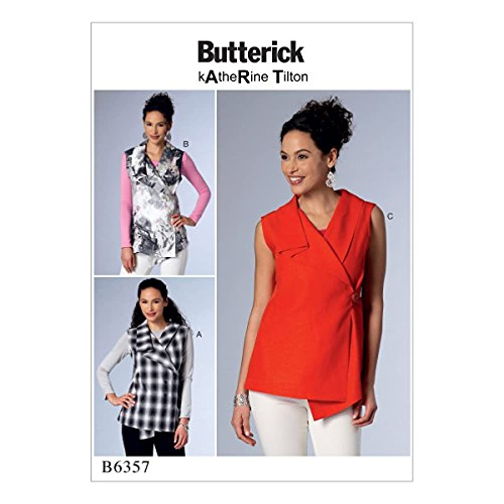 McCall Pattern Company B63570Y0 Misses' Sleeveless Wrap Tops with Shawl Collar Pattern