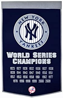 New York Yankees World Series Championship Dynasty Banner - with hanging rod