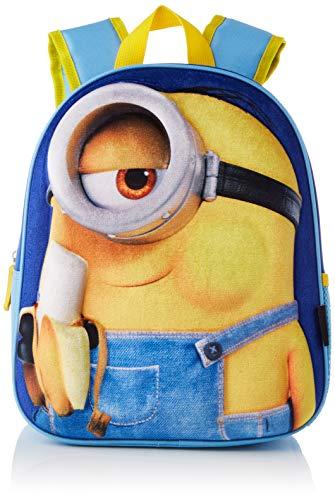Cerdá, Mochila Infantil Minions 3D de Color Azul-Licencia Oficial Universal Studios Unisex niños, Multicolor, 260X310X100MM