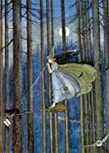 Witch On Her Broomstick Greeting Card (Fairies)