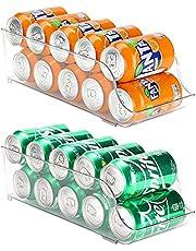 Puricon Koelkast Organizer Bins Kan Dispenser Opberghouder, Soda Drank Ingeblikte Voedsel Container Bin Clear Plastic Pantry Opslag Rack voor Koelkast Pantry Keuken Werkbladen Kasten