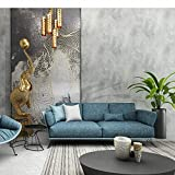 Papel Pintado Fotográfico Gris claro Vinilo Hormigón Papel pintado neutro texturizado Gris claro Blanco liso Rollo de papel de pared para oficina, pasillo, salón, bar, lavable 5.3㎡