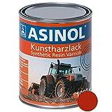 ASINOL MENGELE ROT 1.000 ml Kunstharzlack Farbe Lack 1l Liter Dose