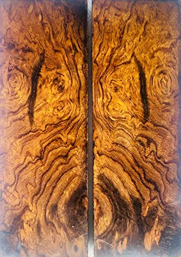 Bookmatched Ironwood (Burl Ball Pattern) Knife Scales – Knife Makers...