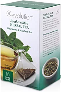 Revolution Tea -Southern Mint Herbal Tea | Premium Full Leaf Infuser Stringless Teabags - Headache Soother (16 Bags Each -...