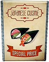 目新しさのブリキ看板、金属ビール看板食品レストラン日本料理黄色のホームアクセサリーZC1520ヴィンテージ面白い警告看板安全標識