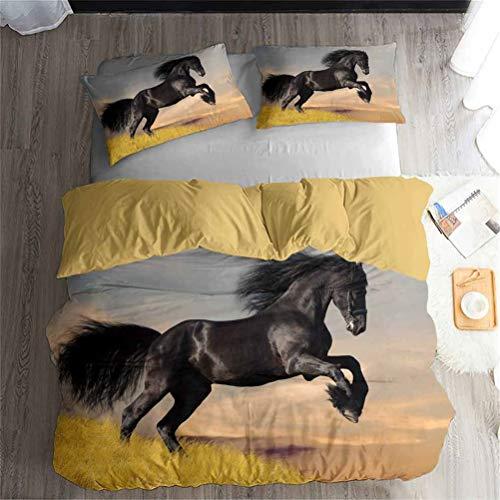 Juventud Animal Caballo Ropa cama Set -