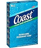 Coast Refreshing Deodorant Soap, Classic Scent, 4 Ounce, 16 Count