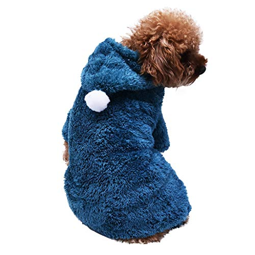Smniao Hundebekleidung für Kleine Hunde Winter Warm Hoodies Haustier Puppy Sweatshirt Hund Schlafanzug für Katzen Kleidung Shirt (XXL, Grün)