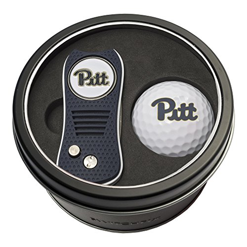 Team Golf NCAA Pittsburgh Panthers Gift Set Switchblade Divot Tool with Double Sided Magnetic Ball Marker Golf Ball Patented Single Prong Design Less Damage to Greens Switchblade Mechanism