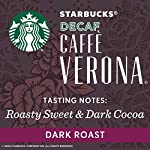 Starbucks Decaf Ground Coffee — Decaf Caffè Verona — 100% Arabica — 6 bags (12 oz.) 16 Decaf Caffè Verona coffee is well-balanced and rich with a dark cocoa texture While the look of the package has changed, this is still the same great-tasting Starbucks coffee you know and love Enjoy the Starbucks coffee you love without leaving the house