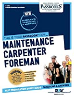 Maintenance Carpenter Foreman