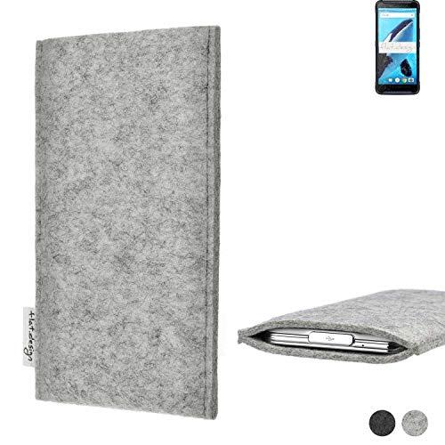 flat.design Handy Hülle Porto für Energizer Hardcase H570S maßgefertigte Handytasche Filz Tasche Schutz Hülle fair grau