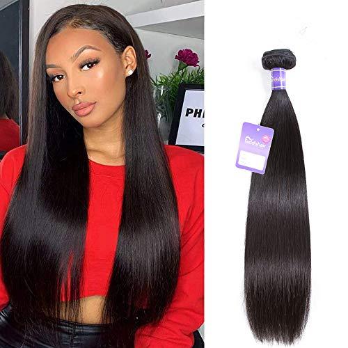 "Faddishair Brazilian Virgin Hair One Bundles 24"" Straight Hair Bundles 100% Unprocessed Virgin Human Hair Weave Single Bundle Deals Natural Black Human Hair Faddishair"