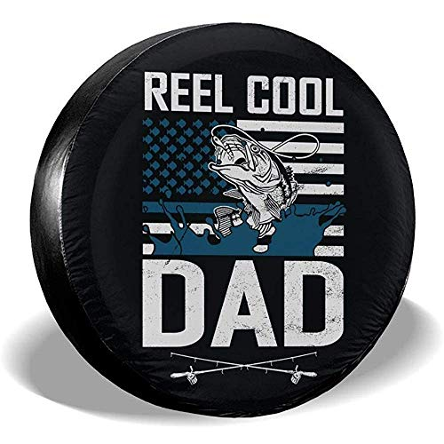 LYMT Reel Cool Dad Fishing Fisher Amerikaanse vlag reserveafdekking universele wiel bandenafdekking reisaanhanger accessoires