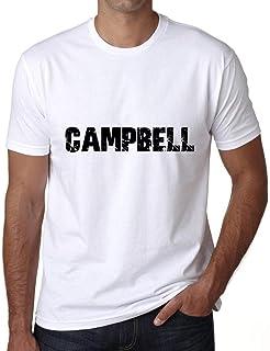 ULTRABASIC ® Proud Family Last Name Men's T-Shirt Surname Gift Ideas Tee CAMPBELL White