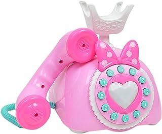P Prettyia 電話玩具 おもちゃ 創造的  子供 ふり遊び 音楽 言語能力と知性 開発 プラスチック 実用 全2色 - ピンク