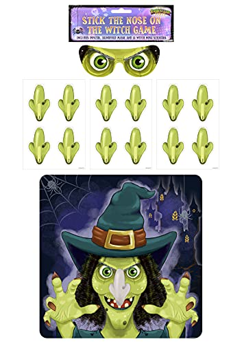 Henbrandt Halloween Party Game – Stick The Nose On The Witch