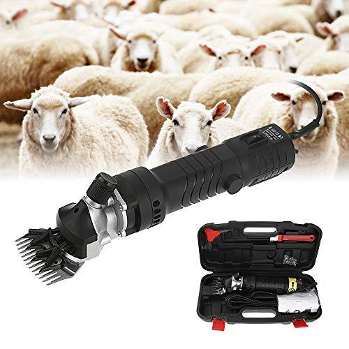 Sinbide 690W Maquina de Esquilar Eléctrica para Oveja Tijeras Máquinas para Esquiladora Tijeras de Lana Ovino Alpaca 6 Velocidades Ajustables Cuidado del Oveja (B-Negro)