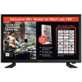 DYON Live 22 - Televisor de Alta definición (54,6 cm/21,5', HD + Tarjeta LED, sintonizador HD Triple, DVB-T2 H.265/HEVC, DVB-S2, DVB-C, USB, Ci+, eficiencia energética A)