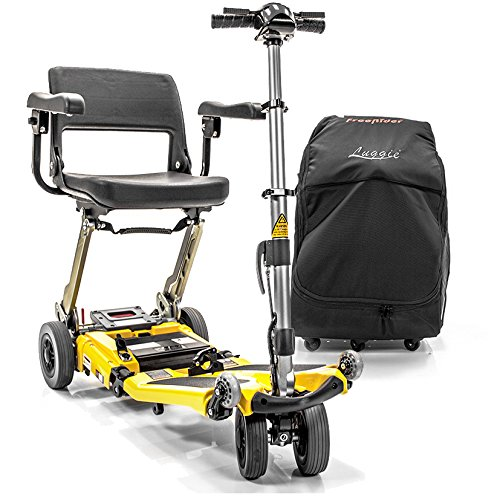 Best Buy! LUGGIE Elite Mobility Folding Scooter 10.5AH Lithium Power + Armrests & Travel Bag