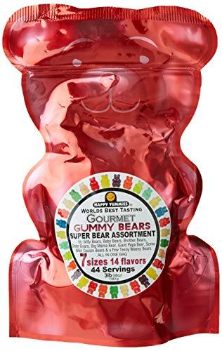 Happy Yummies Worlds Best Tasting Gourmet Gummy Candy Super Bear Assortment 3lb