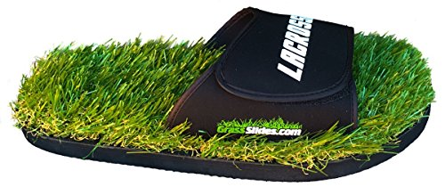 Lacrosse Grass Slides shoes are made from real turf, slippers, sandals, flip flops, slips. (M (8-9))