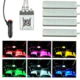 ICBEAMER Interior Under Seat LED Strip Smart Phone Control Color Floor Matt Light w/Sound Active Function Atmosphere