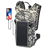 ECEEN Military Tactical Hydration Backpack with 2L Water Bladder Light Weight, Solar Powered Tactical Assault Pack for Hiking Biking Running Walking Climbing Outdoor Travel
