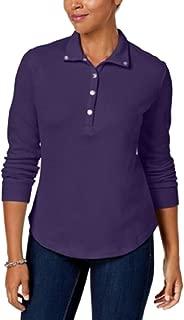 Karen Scott Snap-Front Polo Shirt