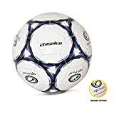 OPTIMUM Ballon de Foot Classico Football, Noir/Bleu, 5