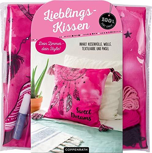 Dein Zimmer - dein Style! Lieblingskissen Sweet Dreams: Inhalt: Kissenhülle, Wolle, Pinsel und Textilfarbe in Silber (100% selbst gemacht)