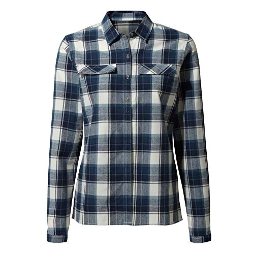 Craghoppers Damen Dauphine LS Shirt Hemden, Blue Navy Check, 18
