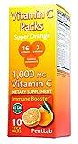 Vitamin C Packs - 1,000mg vitamin C in Each packet - Super Orange Flavor (10 stick packs in each box) non-gmo Real Orange, 16 nutrients, 7 B vitamins, Powerful Antioxidants Immune Booster NON-FIZZ USA