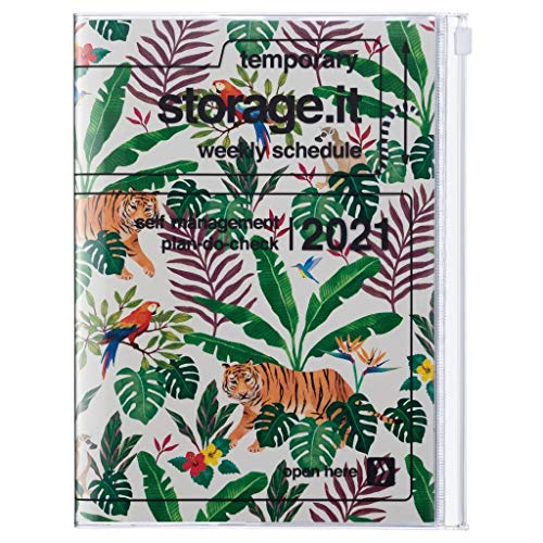 MARK'S 2021 - Agenda de bolsillo vertical B6 Storage.it, Jungle // Beige.