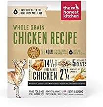 The Honest Kitchen Human Grade Dehydrated Whole Grain Dog Food – Complete Meal or Dog Food Topper – Chicken 10 lb (makes 40 lbs)