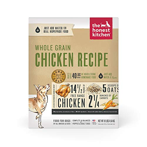 The Honest Kitchen Human Grade Dehydrated Organic Grain Chicken Dog Food 10 lb - Revel